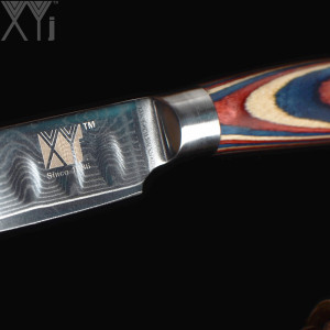 "Image 5 - XYj Single Damascus Knife 3"" 4"" 5"" 6"" inch VG10 Damascus Steel Kitchen Knives Fruit Vegetables Damascus Pattern Kitchen Knife"