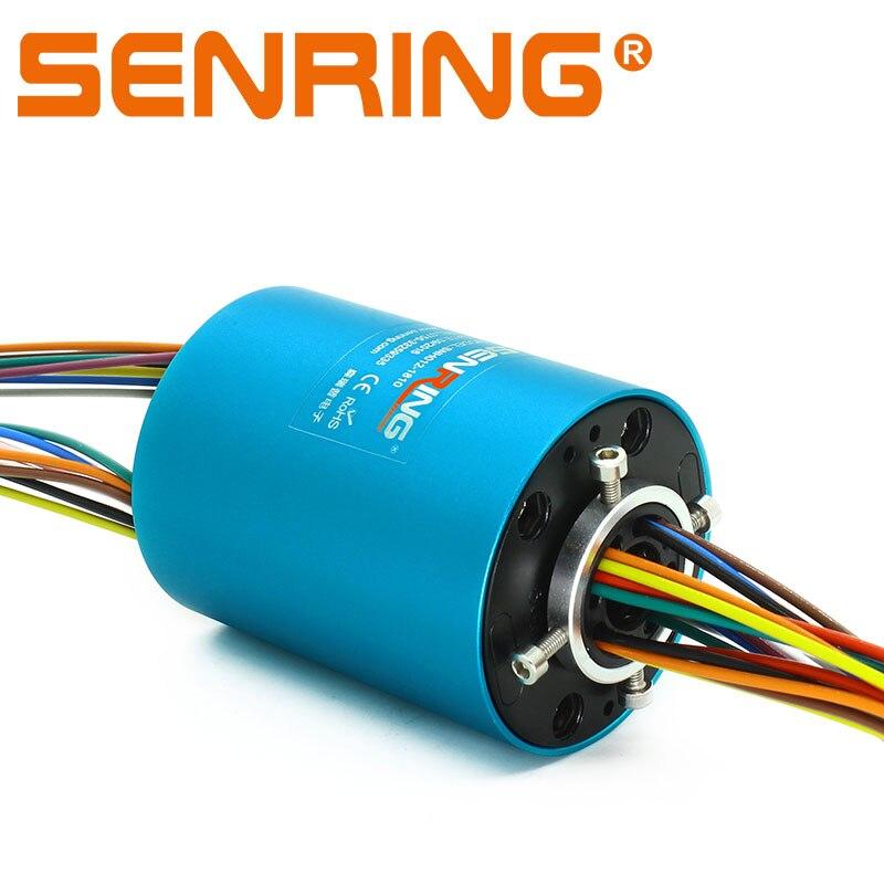 Rotation connecteur Armature 6 circuits 10A et 12 signal 2A à travers l'anneau de patinage de trou avec 12.7mm