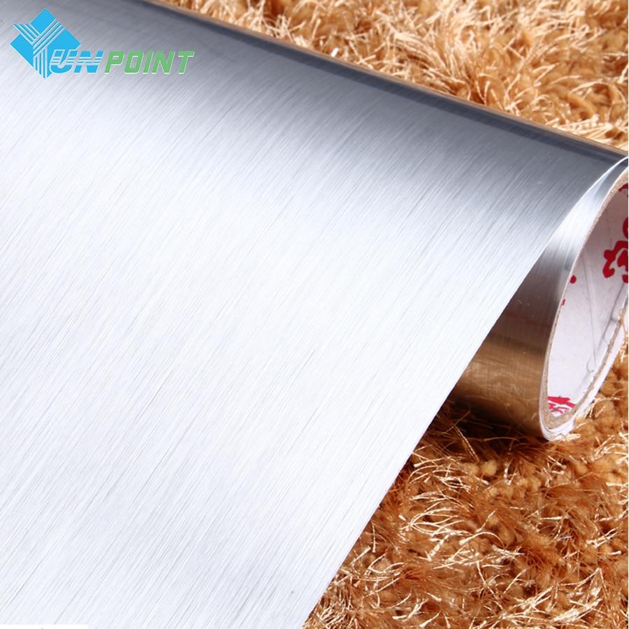 Furça argjendi argjendi PVC Sticker dekorative Vinyl Vetë ngjitëse - Dekor në shtëpi - Foto 2