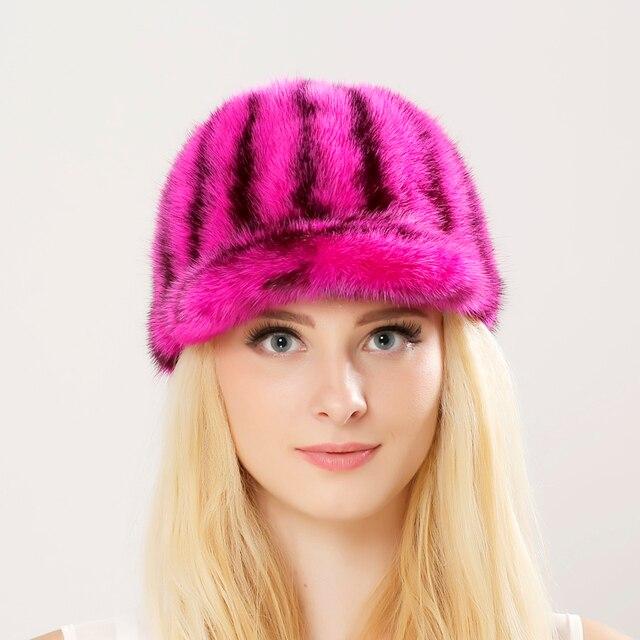 Real Mink Fur Hats Women Natural Mink Fur Cap 2016 New Style Good Quality Famle Fur Caps Casquette Lady Winter Hat