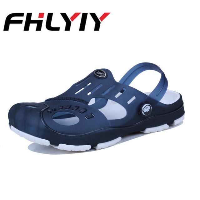 b229b03e9 ... Casual Flat Slip On Flip Flops Men Sandals Summer Outdoor Slippers  Shoes Croc Fashion Beach Sandal