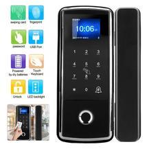 Touch Keypad Electric Smart Fingerprint Password Lock Attendance Doorbell Function For Glass Office Door