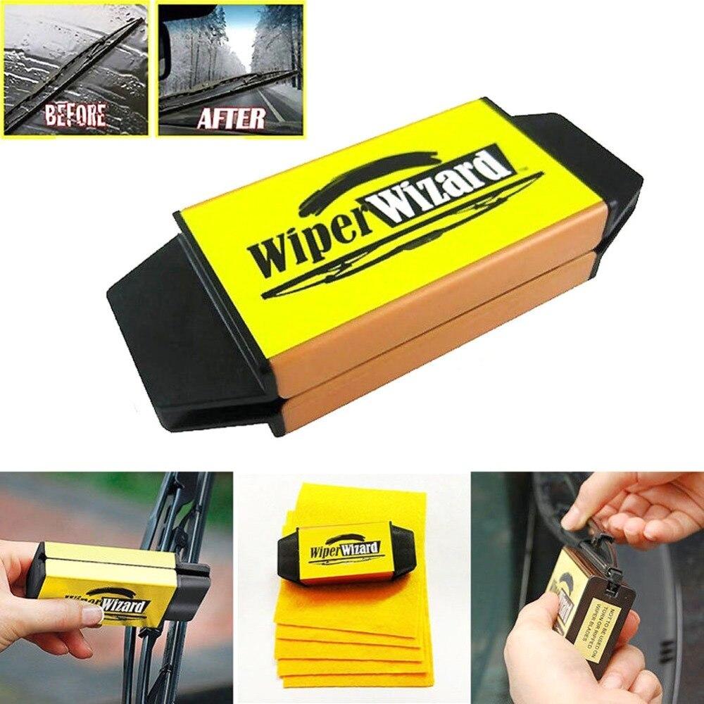 Wiper Cleaning Brush Car Van Wizard Wiper Tool Windshield Wiper Blade Restorer Cleaner Car Blades Repair Tools
