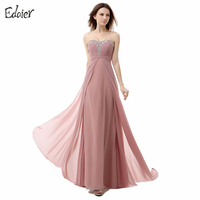 Edaier Prom Dresses Long 2017 A Line Sweetheart Off Shoulder Lace Up Beaded Sequined Floor Length
