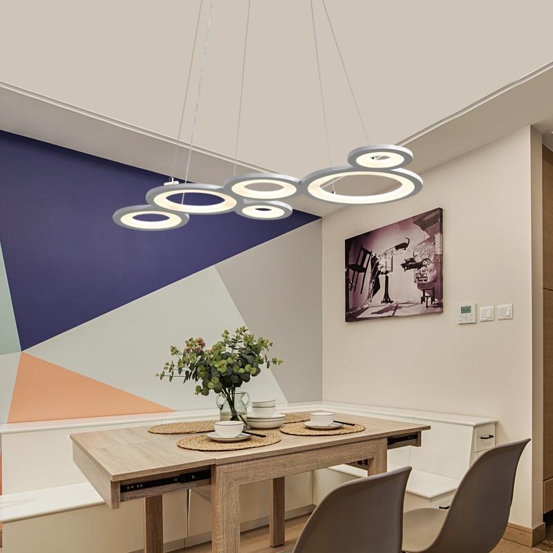 Modern LED Pendant Lights for Dining Room Cafe Bar Iron Acrylic Decorative Lighting Fixtures Pendant Lamp luminaire suspendu