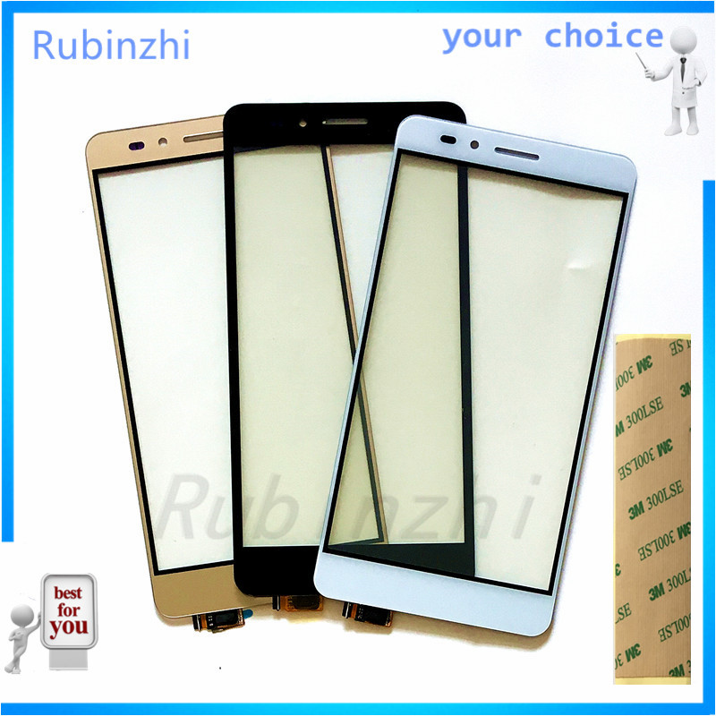 RUBINZHI Phone Touchscreen For <font><b>Huawei</b></font> <font><b>Honor</b></font> <font><b>5X</b></font> <font><b>Touch</b></font> <font><b>Screen</b></font> Panel Front Glass Touchscreen Panel Digitizer Replacement Lens +Tape image