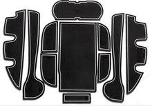 11 pz Auto antiscivolo Porta Porta Slot Mats Tappeti Posizione Cup Holder Pads Per Toyota Camry Porta Scanalatura Mat 2012 2013 2014 2015