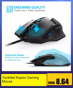 cf627dfb378 TeckNet Raptor Gaming Mouse 2000 DPI 6 Button Extra Weight Optical Computer  Mouse E-Sports USB PC Mouse For Computer Laptop