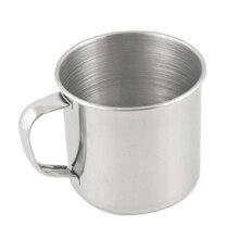 250 мл чашка для воды из нержавеющей стали кофе для питья сока дети чашки серебро