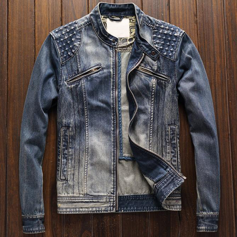 Men s Real Leather Motorcycle jacket Cowhide leather Slim fit collar men Genuine Leather jackets casual