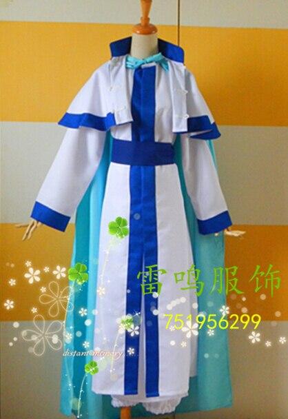 2016 Akatsuki no Yona Kija White Outfit Coat Cape Cloak For Men Halloween Cosplay Costume Custom Made