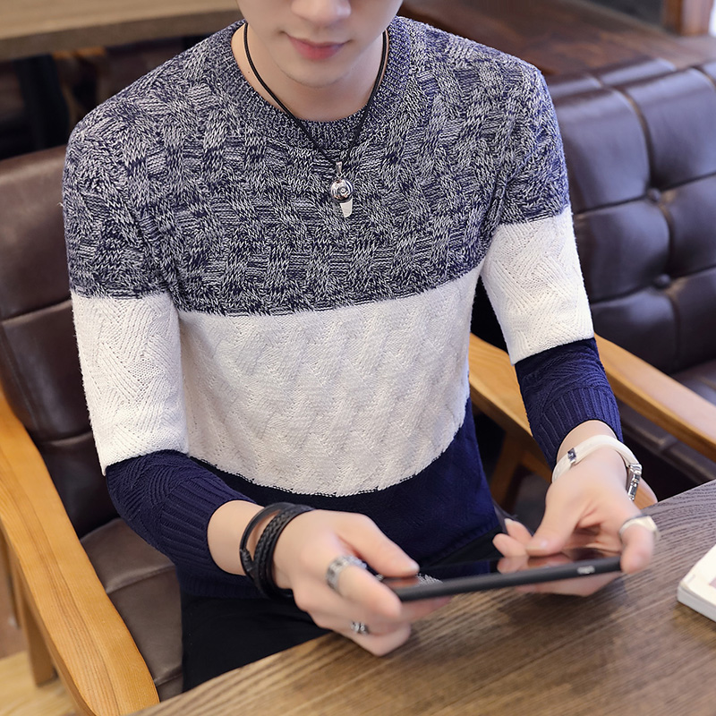 Mens  Sweaters Warm Pullover Knitted Striped Male 2019 Brand Casual Autumn Winter Sweater Long Sleeve Pullovers For Masculino