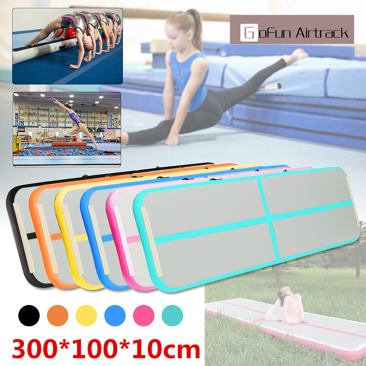 New Arrival Yoga Mats 0.9*3m Inflatable Tumble Track Trampoline Air Track Floor Home GYM Gymnastics Inflatable Air Tumbling Mat free shipping 3x0 9x0 1m black gymnastics inflatable air track gym mat inflatable air tumble track inflatable air track