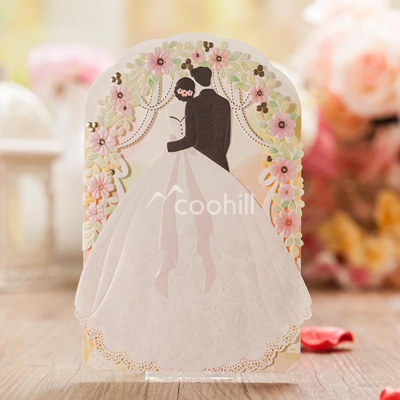 50set Bride and Groom Wedding Invitations Paper Card Invites Party Arch Decoration Favors Personalized Convite do casamento