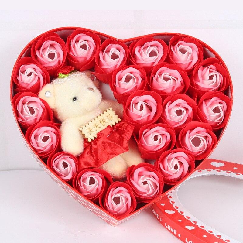 21 Stucke Rose Seife Blutenblatt Bad Korper Valentinstag Geburtstag