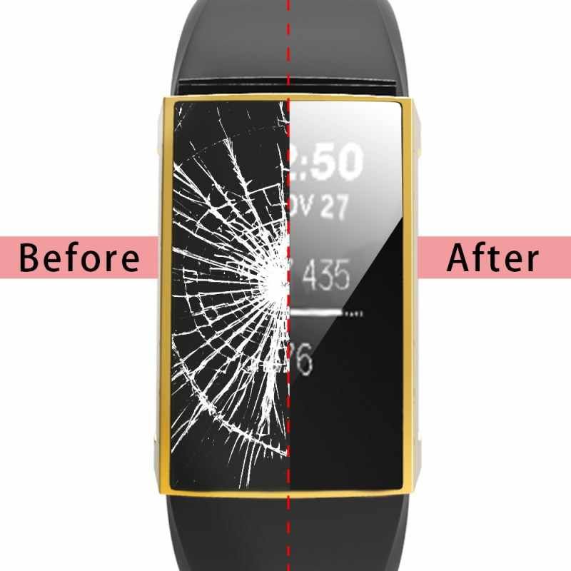 360 полный экран защитный чехол для Fitbit Charge 2 Чехол на Fit Bit Charge2 запястье Браслет замена защитный чехол