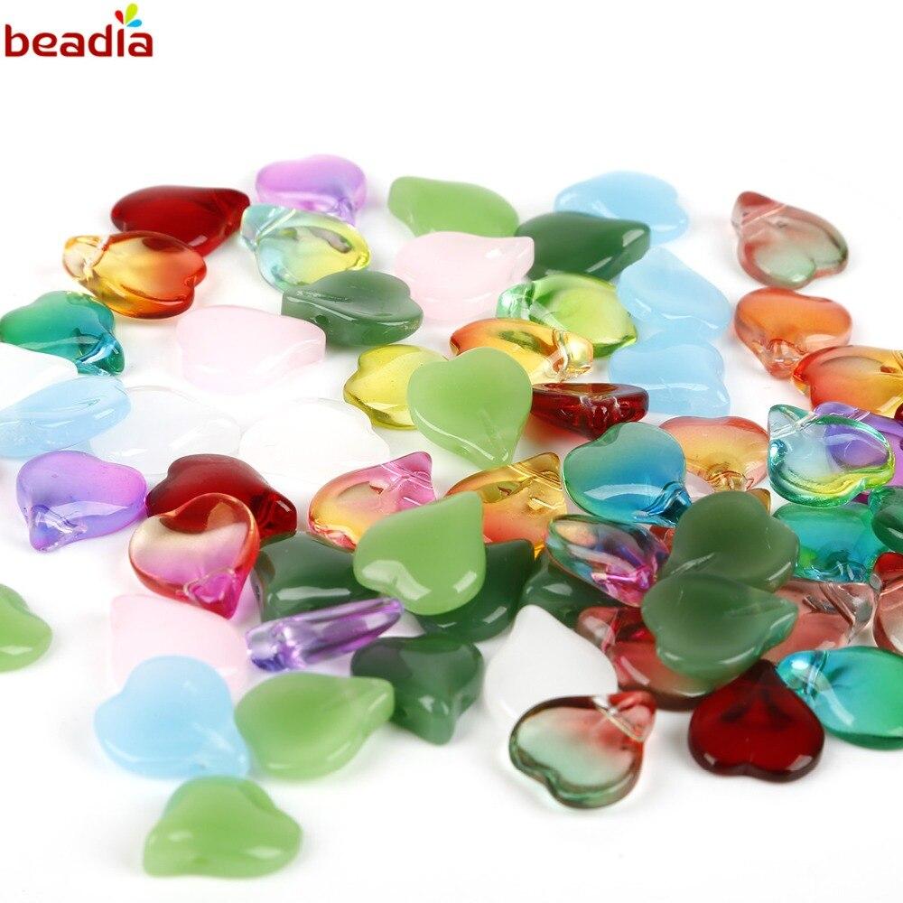 25 10 x 10 mm Czech Glass Heart Beads Light Pink Quartz
