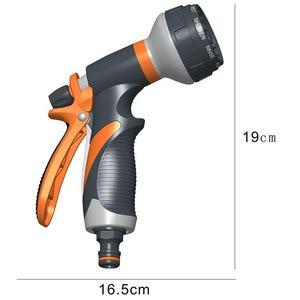 Image 4 - 8 パターン庭の水鉄砲ホースノズル家庭用洗車ヤード水噴霧器ガーデン水ホースノズル振りかけるツール