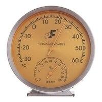 Аналоговый термометр с циферблатом из нержавеющей стали, гигрометр, измеритель температуры и влажности #0616