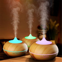 Household 300ML Wood Grain Aroma Diffuser Humidifier DC 24V Mute Essential Oil Diffuser Colorful Ultrasonic Aromatherapy