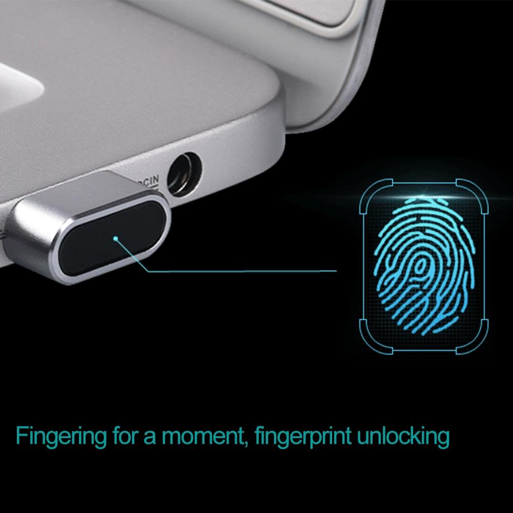 Lecteur d'empreinte digitale USB professionnel léger Portable fichier sécurité en aluminium sûr précis pour ordinateur Portable PC clé Mini prise