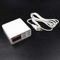 6A 6 Port Szybka Ładowarka USB HUB Adapter Ładowania Wyświetlacz Ekran LCD Ścienne UE/US/UK Wtyk USB huby