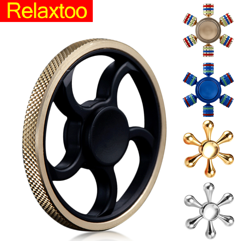 Relaxtoo Brand Fidget Spinner Metal EDC Spinners Hand DIY Finger Spiner Gyro Toys For Autism ADHD Adult Anti Stress Children Kid