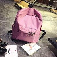 2018 Simple Harajuku Korean Student Bag Laptop College Wind Backpack Female Ring Backpack Teen Backpack For School