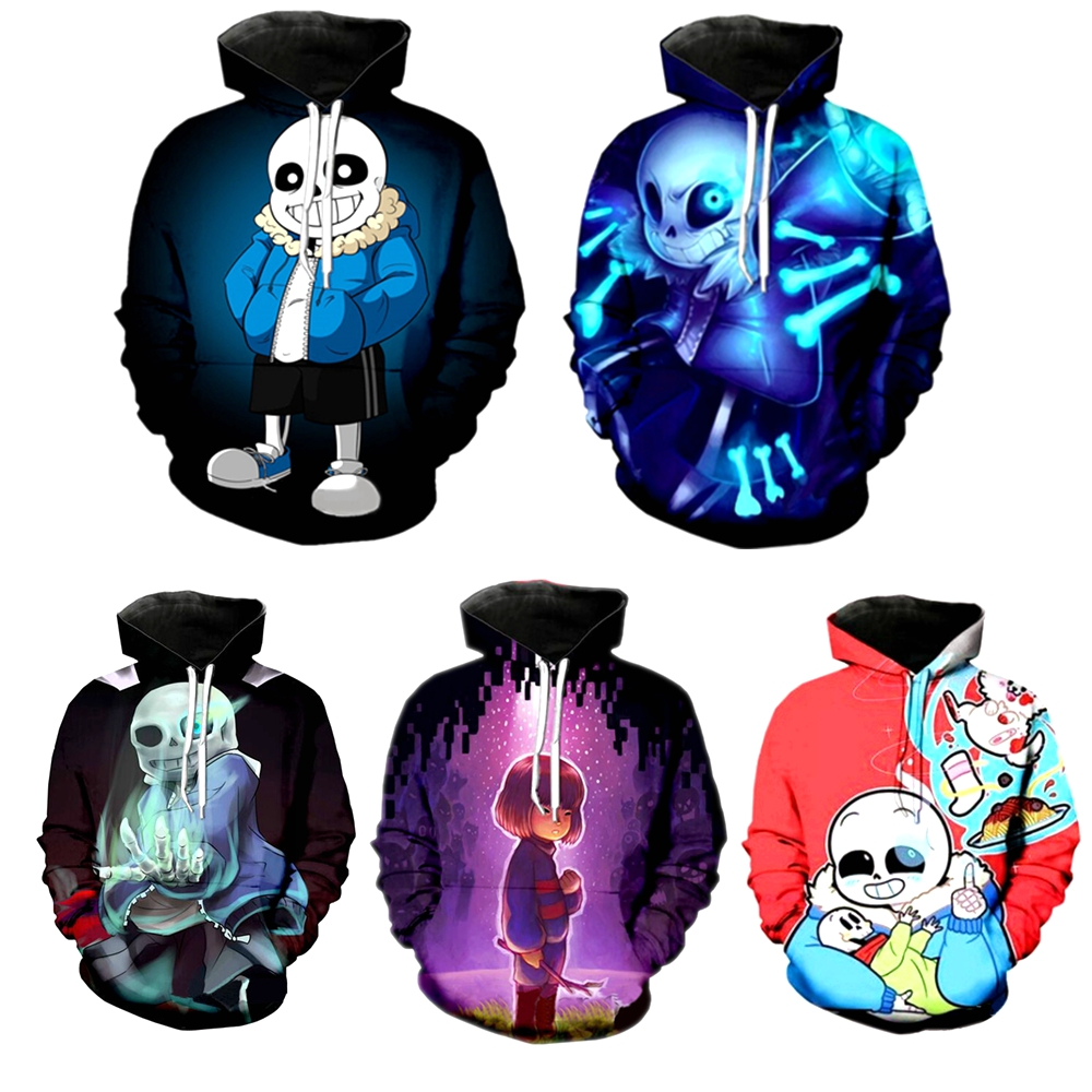 New Undertale Hoodie Sans Pattern 3D Print Men Women Fashion Pocket Hoodies Sweatshirts Coat Long Sleeve Casual Streetwear Tops