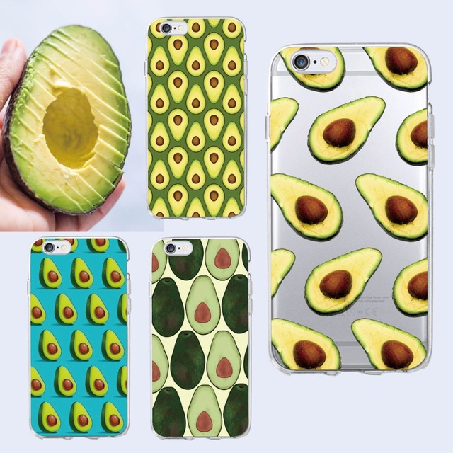 Cute Avocado Food Pattern Soft Phone Case Cover Coque Fundas For iPhone 6 6S 6Plus 7 7Plus 8 8plus X XS Max  SAMSUNG Galaxy