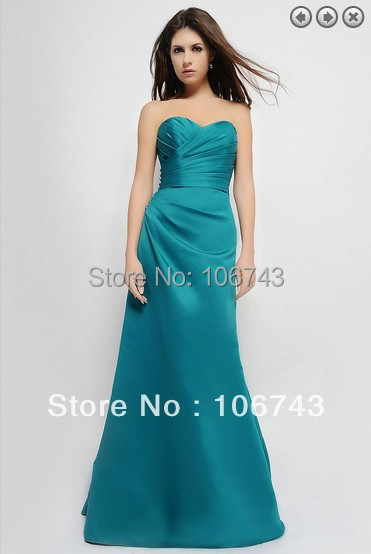 free shipping maxi   dresses   2016 satin vestidos de festa bridal formal gown Fashion long   dress   party Gowns   Bridesmaid     Dresses