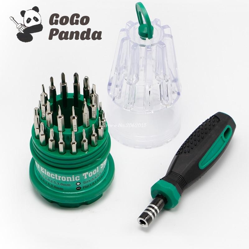 Free Shipping 31 in 1 Precision Handle Screwdriver set Mobile Phone Repair Kit Tools 7001