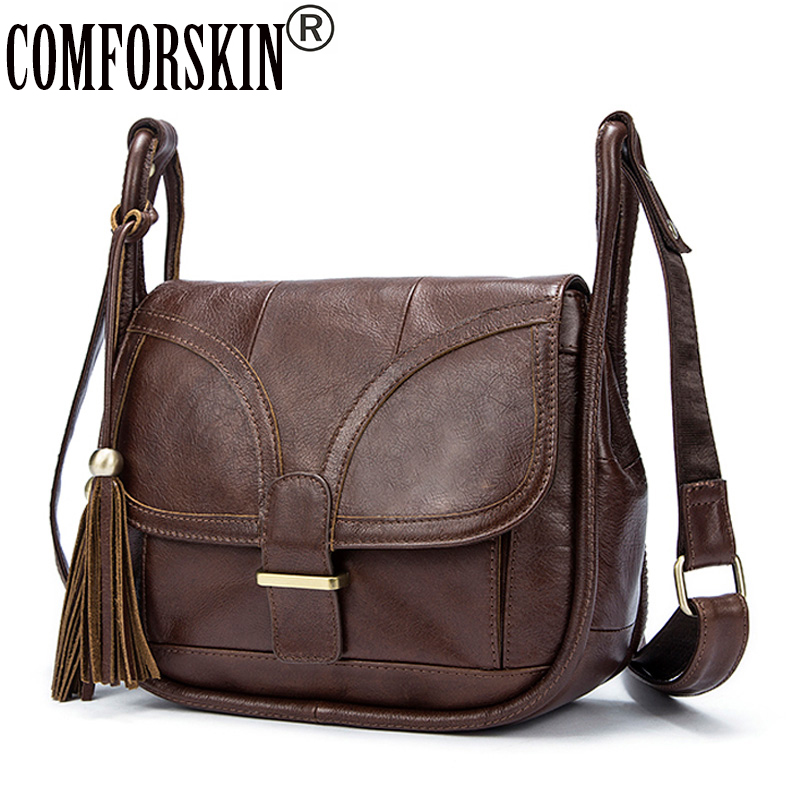 COMFORSKIN Bolsos Mujer De Marca Famosa New Arrivals Vintage Tassel Women Messenger Bags 2018 European And American Style Bag comics dc marvel wallets green arrow leather purse women money bags gift wallet carteira feminina bolsos mujer de marca famosa