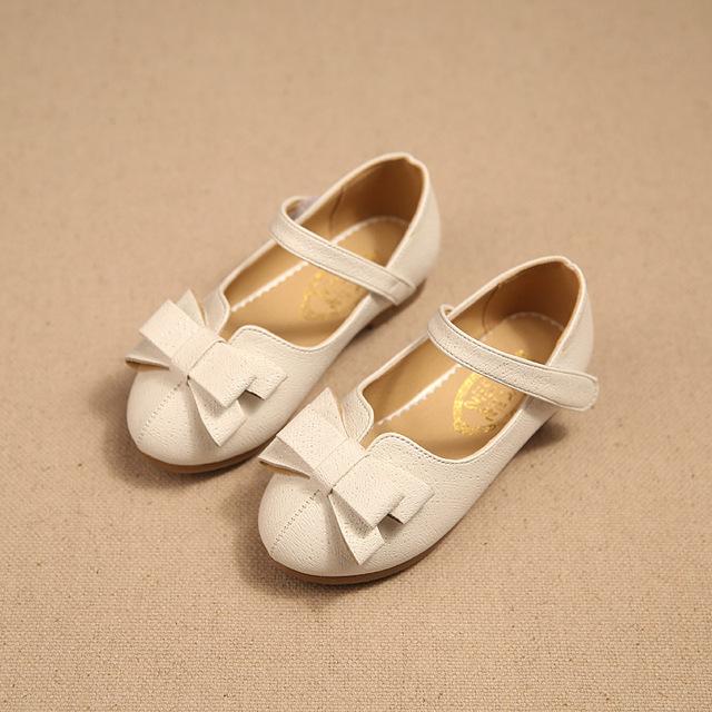 2016 crianças de primavera sapatos sapatos meninas moda bowknot meninas dança sapatos de sola macia crianças sapatos de couro princesa meninas apartamentos