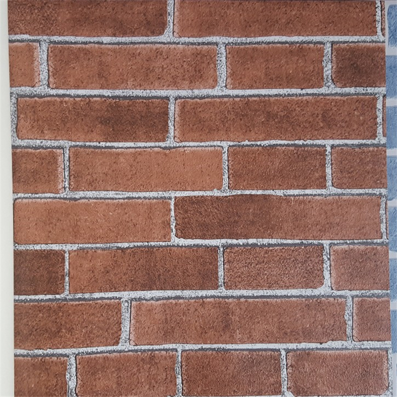 beibehang High-end 3D antique brick pattern personalized retro blue brick wall wallpaper modern Chinese restaurant culture stone