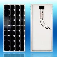 цена на A Grade Solar Panel 12v 100W Monocrystalline Solar Module 12V Battery Charger Motorhome RV Boat Marine Yacht Camp Caravan Car