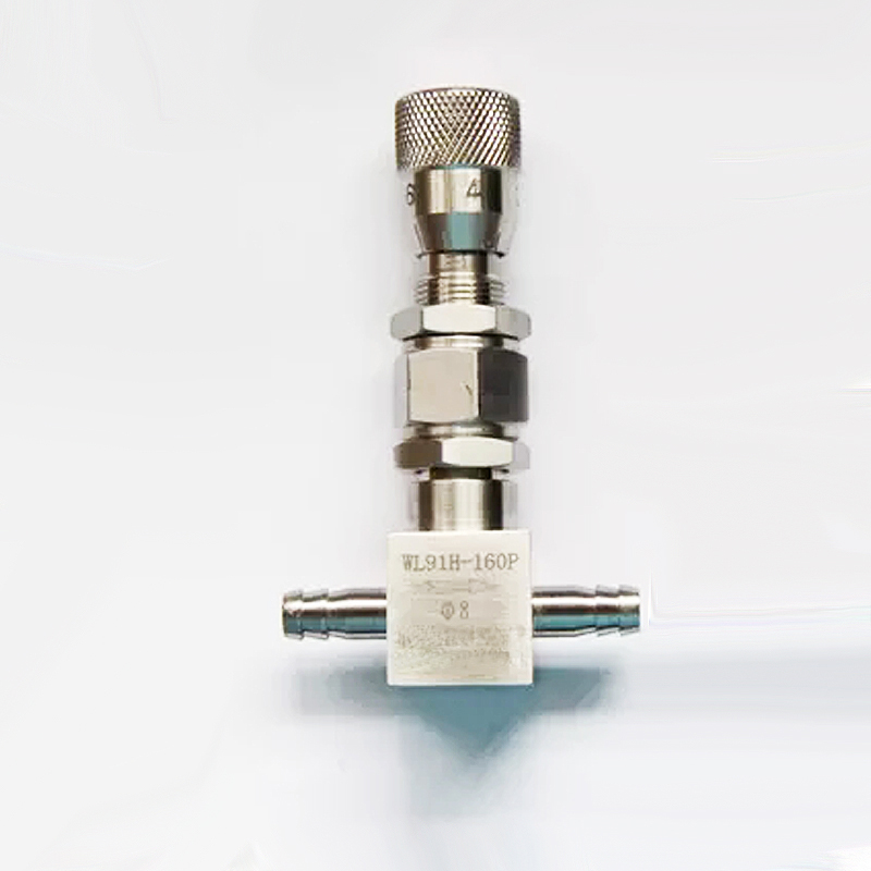 6mm 8mm 10mm Pagoda Type Micro Adjustment Valve Stainless Steel Needle Valve Straight Flow Regulating Valve