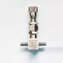 6mm 8mm 10mm Pagode Tipo Válvula de Agulha de Aço Inoxidável Válvula de Ajuste de Micro 16MPA Válvula Reguladora de Fluxo Em Linha Reta