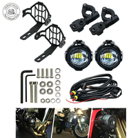 1 Pair Motorcycle 40W LED Auxiliary Light with Protect Guard Bumper LED Driving Lamp for BMW R1200GS F800GS