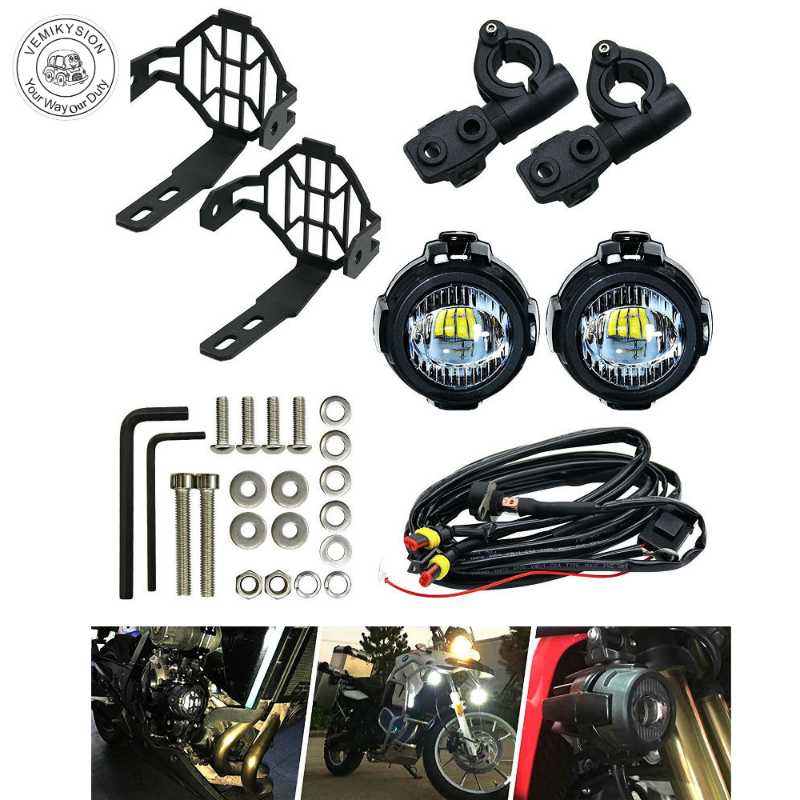 1 Pair Motorcycle 40W <font><b>LED</b></font> Auxiliary Light with Protect Guard Bumper <font><b>LED</b></font> Driving Lamp for <font><b>BMW</b></font> R1200GS F800GS image