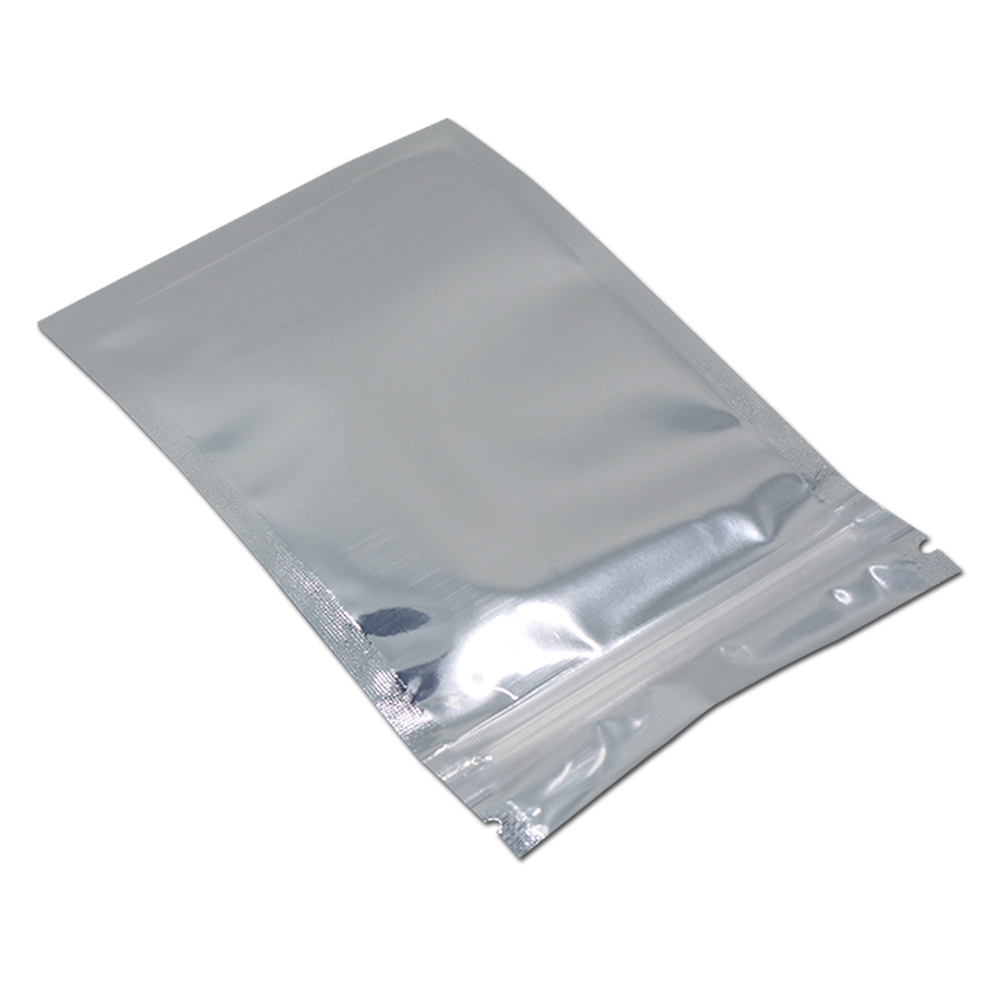 100PCS Lot Aluminum Bags Foil Front Clear Food Package Bag 23 Sizes Mylar Foil Ziplock Heat Seal Beans Storage Pouch Smellproof in Gift Bags Wrapping Supplies from Home Garden