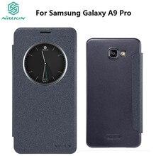 Для Samsung Galaxy A9 Pro A9100 Nillkin Sparkle откидная крышка ПУ кожа PC жесткий Пластик назад чехол для телефона