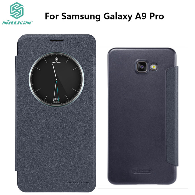 best service 5d61c 72d37 US $7.91 |For Samsung Galaxy A9 Pro A9100 NILLKIN Sparkle Flip Cover PU  Leather PC Hard Plastic Back Phone Case-in Flip Cases from Cellphones & ...