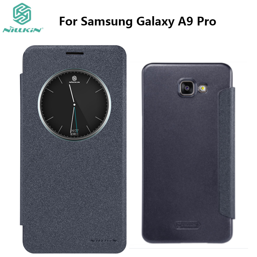 For <font><b>Samsung</b></font> Galaxy A9 Pro <font><b>A9100</b></font> NILLKIN Sparkle Flip Cover PU Leather PC Hard Plastic Back Phone Case image