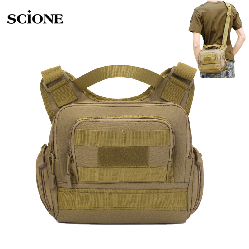 Men Military Hiking Bag Tactical Sling Bags Camping Backpack Sports Army Camouflage Pack Hunting Outdoor Handbag Molle XA810WA