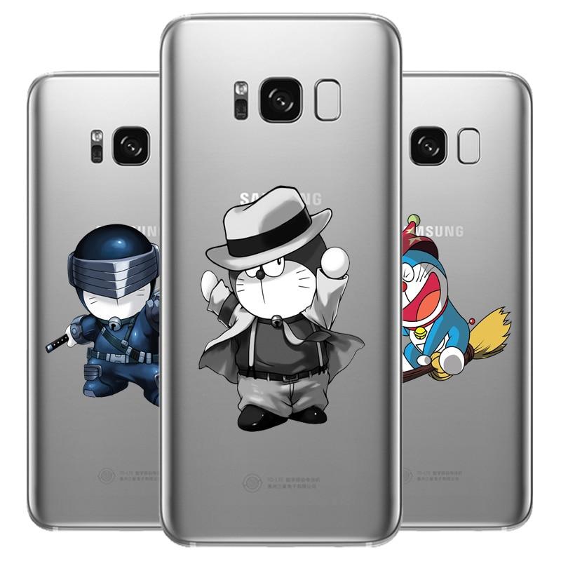 DREAMFOX L514 Cute Doraemon Soft TPU Silicone Case Cover For Samsung Galaxy Note S 3 4 5 6 7 8 9 Edge Plus Grand Prime