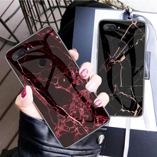 Tempered Glass Case for Xiaomi Mi 8 Lite Mi8 lite High Hardness Marble Back Cover