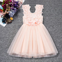 Summer Toddler Baby Girl Dress Infant Floral Baptism Gown for Girls 2-6T Tulle Birthday Party Sundress Clothes vestido infantil(China)