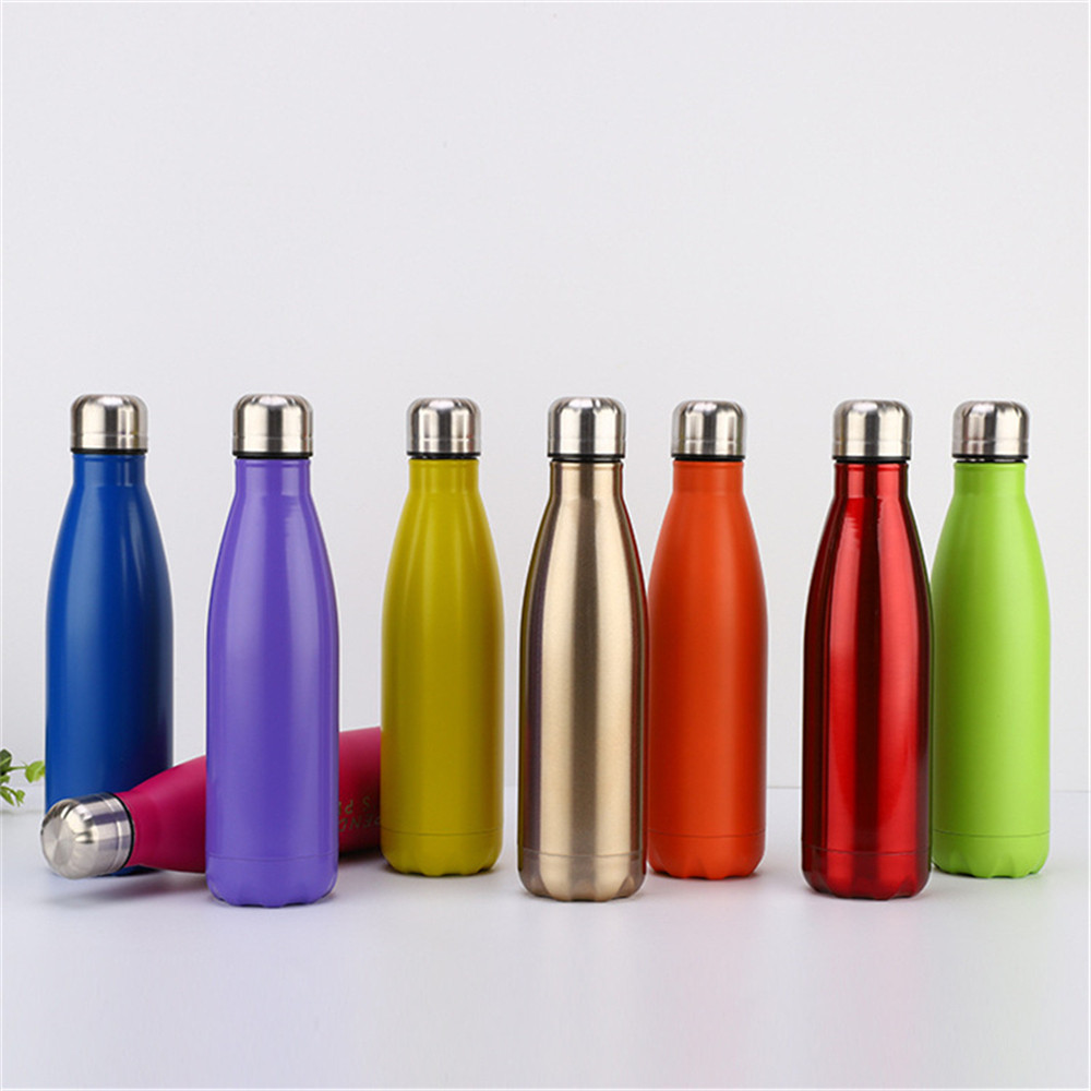 BPA Free Water Bottle High Quality Solid Color Thermos Stainless Steel Vacuum Insulated Sport Cup Outdoors Bottle in Vacuum Flasks Thermoses from Home Garden