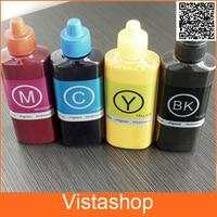 Vilaxh 1 conjunto 100ml garrafa de tinta de sublimação para ricoh gc31 tinta para ricoh e2600  e3300  e3300n  e3350n  e50n  e5050n  e5550n  e5550n  e7700|ink pigment|ink tube|ink and wash painting -
